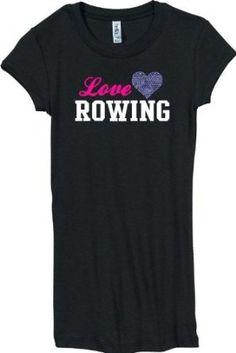 Rowing Love Rhinestone Bling Shirt $23.99 - $25.99