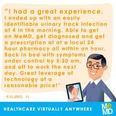 What do you do when illness strikes in the middle of the night?  #MeMD #Testimonial #HealthcareVirtuallyAnywhere