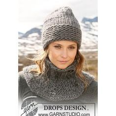 Knitted Ladies' Hat Pattern in Garter St in DROPS