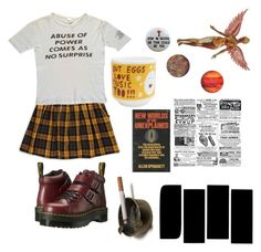 """abuse of power comes as no surprise"" by teething ❤ liked on Polyvore featuring Forever 21 and Dr. Martens"