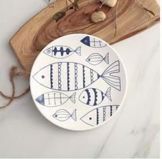 Atlantic Cod, Kitchenware, Decorative Plates, Porcelain, Aliexpress, Draw, China, Table, Home Decor