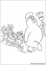 frosty the snowman coloring pages on coloring bookinfo - Frosty Snowman Coloring Pages