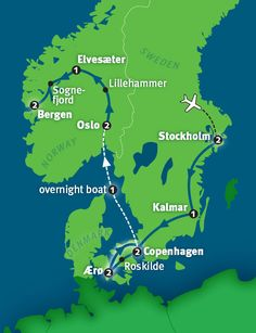 Scandinavia Tour: Norway, Sweden and Denmark in 14 Days - Stroll around the harbor — and through the heart — of Oslo during our Best of Scandinavia in 14 - Visit Denmark, Denmark Travel, Travel Route, Places To Travel, Helsinki, Oslo, Norway Sweden Finland, Scandinavian Countries, Lillehammer