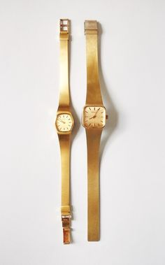 Gold plated mechanical watches / Ferse Verse