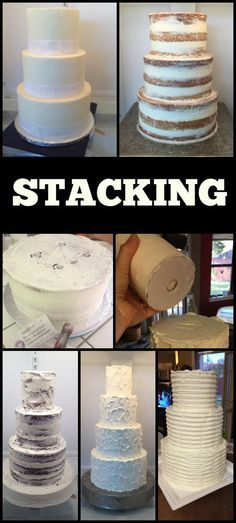 How to stack a straight and sturdy cake!