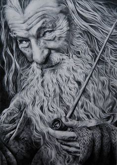 Gandalf by Epileptic-Zombie on DeviantArt The Hobbit Movies, O Hobbit, Architecture Tattoo, Art And Architecture, Lord Of The Rings Tattoo, Desenhos Harry Potter, Martin Freeman, J. R. R. Tolkien, Legolas