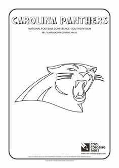 Carolina Panthers Coloring Pages Cool Coloring Pages  Nfl American Football Clubs Logos  National .