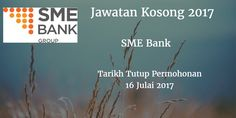 Jawatan Kosong SME Bank 16 Julai 2017  SME Bank calon-calon yang sesuai untuk mengisi kekosongan jawatan SME Bank terkini 2017.  Jawatan Kosong SME Bank 16 Julai 2017  Warganegara Malaysia yang berminat bekerja di SME Bank dan berkelayakan dipelawa untuk memohon sekarang juga. Jawatan Kosong SME Bank Terkini 16 Julai 2017: 1. Transformation Management Office Executive Tarikh Tutup Permohonan : 16 Julai 2017 Sektor    : Swasta Lokasi     : Kuala Lumpur Sumber iklan rasmi jawatan kosong dan…