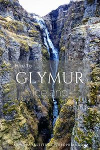 Hike to Glymur Waterfall Iceland This amazing and dangerious hike is an amazing Iceland adventure!  #Iceland #hike #travel #Glymur #adventure #waterfall #travelphotography