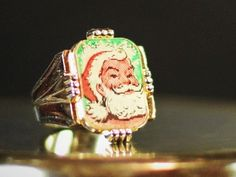 Vintage 1960s Sears Santa Claus Plastic Flicker Ring Advertising Premium Christmas Promotion Vari-Vue Lenticular Flasher Holograph Toy by Misinterpreted on etsy
