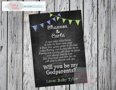 God Parent Card Will you be my GodParents by FrostedandFabulous