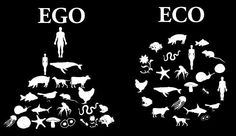 Ego vs Eco 2/20/14 I like the way this picture represent how humans tend to view their stance in the environment vs. How nature should work.