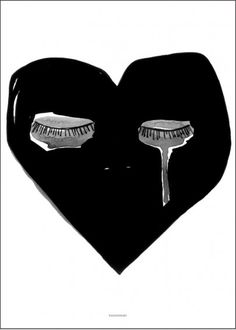 CRYING HEART PRINT  BY PAX AND HART