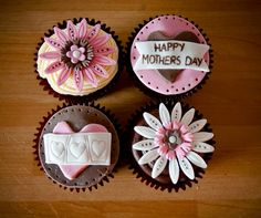 Rituals Beauty: Beautiful Cupcakes - for my Mummy today Fondant Cupcakes, Fondant Toppers, Pink Cupcakes, Yummy Cupcakes, Cupcake Cakes, Themed Cupcakes, Cupcake Toppers, Mothers Day Cupcakes, Mothers Day Cake
