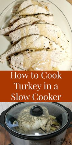 How to cook a turkey in a slow cooker. Use this slow cooker turkey recipe to cook a small turkey or a Honeysuckle White turkey breast in your Crock Pot. Slow Cooker Turkey, Crock Pot Slow Cooker, Cooking Turkey, Crock Pot Cooking, Turkey Crockpot, Cooking Time, Cooking Ideas, 21 Day Fix, Thanksgiving Recipes