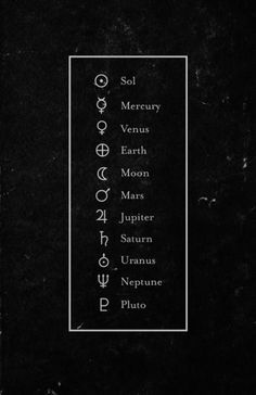 Alchemical symbols                                                                                                                                                      More