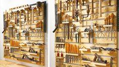 mur rangement atelier palettes