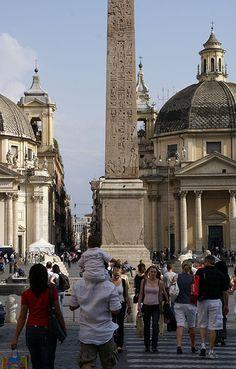 Rome, Piazza del Popolo, obelisk of Ramses II.