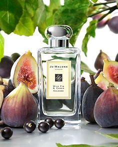 """Jo Malone Wild Fig & Cassis  """"Inspired by breakfast in Tuscany - the moment of breaking open juicy figs, fresh from the tree - Wild Fig & Cassis is a delicious fragrance. The scent of sun-warmed figs and delicate cassis is entwined with notes of hyacinth and cedarwood, enveloping the wearer in the warmth of the Mediterranean."""""""