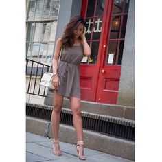 @JenandJuice has on the Racer Shift Dress. She also pairs it with some beautiful nude heels! #FevrieFashion