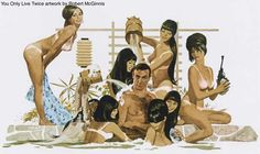 When Sean Connery played James Bond in the 1967 hit, You Only Live Twice one doubts he had this week's billion dollar covered bond… James Bond Movie Posters, James Bond Movies, Movie Poster Art, Film Posters, Theatre Posters, Robert Mcginnis, Sean Connery, James Bond Girls, The Artist Movie