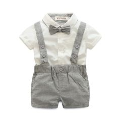 2016 summer style baby boy clothing set newborn infant clothing 2pcs short sleeve t shirt + suspender gentleman suit-in Clothing Sets from Mother & Kids on Aliexpress.com | Alibaba Group