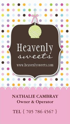 Cake pops business cards bakery business cards pinterest cake cake pop business card accmission Choice Image