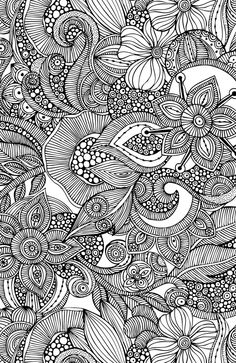 Flowers and doodles Art Print