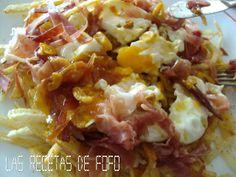 Las recetas de Fófo: Huevos rotos con jamón