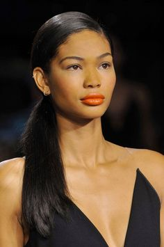 The Best Makeup Looks from Spring 2014: Orange Lips