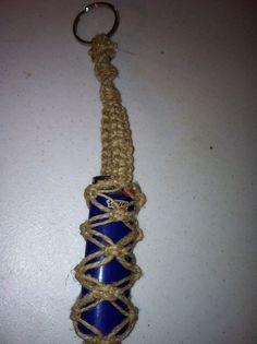 Thick hemp macrame lighter leash, lighter holder-natural, hemp accessories, hippie, music festivals