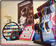 my jewellery sold at a hair salon...