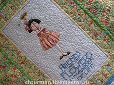 """Купить Детское одеяло """"Цветочная фея"""" - лоскутное одеяло, пэчворк, ручная работа, подарок для девочки"""