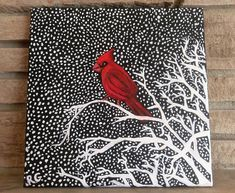 Check out this item in my Etsy shop https://www.etsy.com/ca/listing/568484523/oil-painting-winter-cardinal-on-canvas