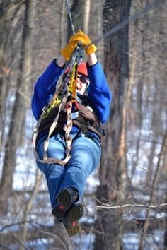 winter fun at Lake Geneva Canopy Tours