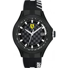 Men's Wrist Watches - Ferrari Scuderia Pit Crew Black Dial Black Silicone Mens Watch 830125 *** Click image to review more details. (This is an Amazon affiliate link)