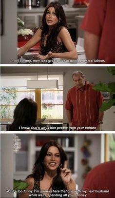 She's really something. Lol modern family