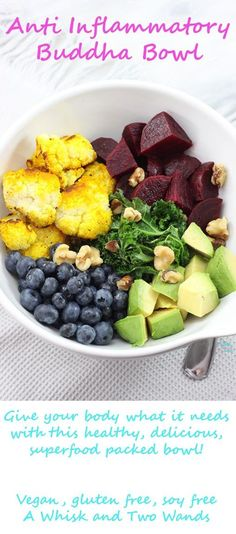Anti Inflammatory Buddha Bowl, whole food nutrition at it's best!