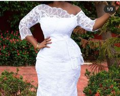 African Lace Styles, Ankara Styles, African Wear, African Dress, Couples African Outfits, Lace Dresses, Wedding Dresses, White Lace, White Dress