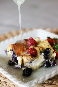 Maple Blueberry French Toast Casserole