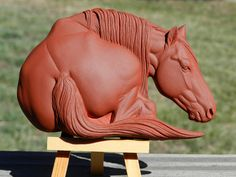 """""""Jypsi in Repose"""" aka """"I like Big Butts"""" is now available for sale. She is larger than my other relief sculptures at 5 1/2"""" long 3 7/8"""" tall and 7/8th inch thic"""