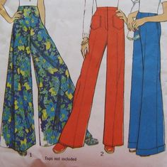 bellbottoms, the wider the better