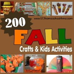 123 Homeschool 4 Me: 36 Leaf Crafts & Kids Activities for Fall