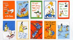 Dr. Suess Green Eggs and Ham Panel Cotton Fabric at Joann.com