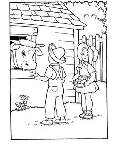 kids coloring pages for children - Amish Children Coloring Book Pages