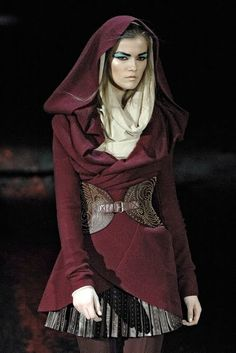 Folk and Fairy- Alexander McQueen's collection inspired by little red riding hood