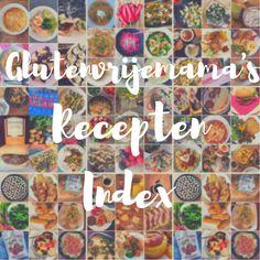Glutenvrije recepten voor de familie. Let er op dat je glutenvrije producten en keukenspullen gebruikt die niet in aanraking zijn geweest met gluten.