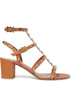 ff6917faca0c Valentino - Valentino Garavani The Rockstud 60 Leather Sandals - Tan