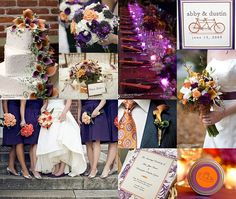 purple wedding ideas | ... Talk Blog for the Practical Bride: Orange and Purple Wedding Ideas