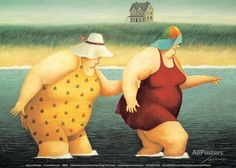Judy and Marge Art by Lowell Herrero - AllPosters.ca